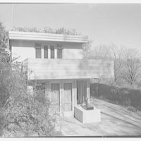 Haut, residence at 305 Shore Rd., Greenwich, Connecticut. View from hill