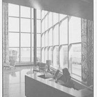 Johnson & Johnson, Metuchen, New Jersey. Receptionist, at desk