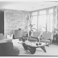 Joseph Prisant, residence at 23 Woolies Lane, Great Neck, Long Island, New York. View toward bay window no. 1
