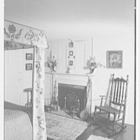 Katherine Prentiss Murphy, residence in Saybrook, Connecticut. Bedroom fireplace