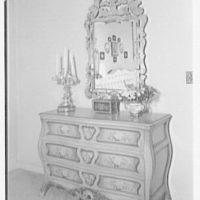 Mahoney, residence at 930 Grand Concourse, Bronx, New York. View to mirror and commode