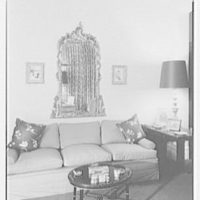 Mark Hanna, residence at 25 1/2 E. 61st St., New York City. Sofa detail