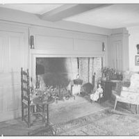 Miss Mary Allis, residence in Fairfield, Connecticut. View toward fireplace