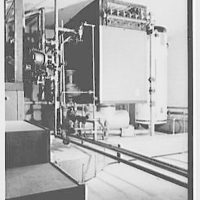 Model house, Orange, New Jersey. View to heater and boiler
