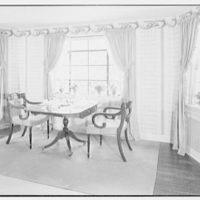 Mr. and Mrs. Clarkson Potter, residence in Old Brookville, Long Island, New York. View to small table
