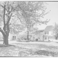 Mr. and Mrs. Clarkson Potter, residence in Old Brookville, Long Island, New York. View to schoolhouse II