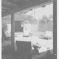 Mr. and Mrs. John Buckhorn, residence in South Orange, New Jersey. Patio, from inside