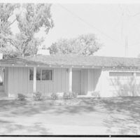Mr. and Mrs. John Buckhorn, residence in South Orange, New Jersey. Side view of exterior