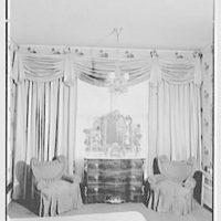 Mr. and Mrs. John Morgan, residence at 39 W. 11th St., New York City. Bedroom window group