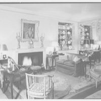 Mrs. Paul Renshaw, residence at 620 Park Ave., New York City. Living room, to fireplace