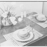 Mrs. Winnifred Teag. Soupcon, table setting