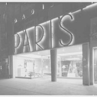 Paris Decorators, business on Grand Concourse, Bronx, New York. Exterior