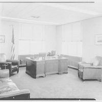 C.A.A. Federal Building, International Airport, New York City. Colonel Young's office