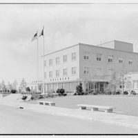 C.A.A. Federal Building, International Airport, New York City. Exterior, from right II