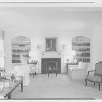 Charles L. O'Reilly, residence at Hampshire House, Central Park South, New York City. Living room, to fireplace