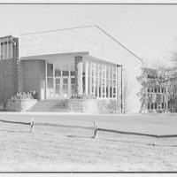 Fairleigh-Dickinson College, Rutherford, New Jersey. Gymnasium building, south facade II