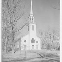 Greenfield Hill Church, Fairfield, Connecticut. Exterior, from southwest I