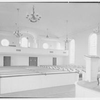 Greenfield Hill Church, Fairfield, Connecticut. Interior, to entrance