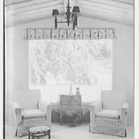 Hilda Kassell, residence in Croton, New York. Living room window I