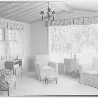 Hilda Kassell, residence in Croton, New York. Living room window III