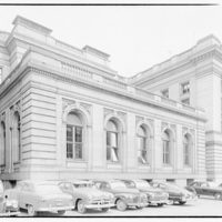 International Nickel Co. at Customs House in Baltimore. Street level view of Customs House with parked cars
