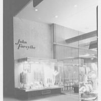 John Forsythe, business at 348 Madison Ave., New York City. Exterior, view from left