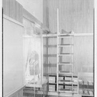 John Forsythe, business at 348 Madison Ave., New York City. Ladder detail