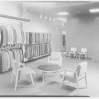 John Forsythe, business at 348 Madison Ave., New York City. Pants department, second floor