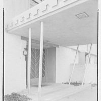 John H. Jackson, residence on Blue Hill Road, North Haven, Connecticut. Entrance detail II
