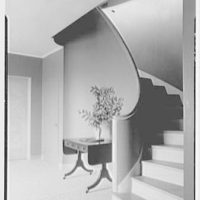 John H. Jackson, residence on Blue Hill Road, North Haven, Connecticut. Staircase
