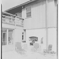 John H. Jackson, residence on Blue Hill Road, North Haven, Connecticut. Terrace detail