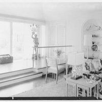 Mr. and Mrs. Lawrence W. Miller, residence in Nantucket, Massachusetts. Living room, to figure