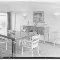 Mr. and Mrs. Lawrence W. Miller, residence in Nantucket, Massachusetts. View to dining room I