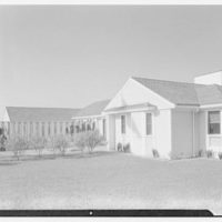 Mr. and Mrs. Lawrence W. Miller, residence in Nantucket, Massachusetts. View to east facade
