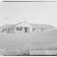 Mr. and Mrs. Lawrence W. Miller, residence in Nantucket, Massachusetts. West facade
