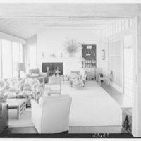 Mr. Jules Thebaud, residence in Nantucket, Massachusetts. General view of living room