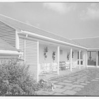 Mr. Jules Thebaud, residence in Nantucket, Massachusetts. Porch, close-up