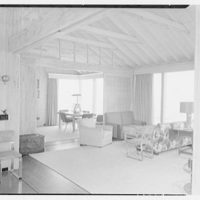 Mr. Jules Thebaud, residence in Nantucket, Massachusetts. View to living room-dining room