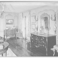 Mrs. Charles Henry Fallasse, Andely, residence in Cross River, New York. Living room, to commode