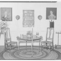 Mrs. Lawrence J. Ullman, business on Prospect Ave., Tarrytown, New York. Dining room set-up