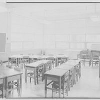 Pearl River School, Pearl River, New York. View to window classroom 17