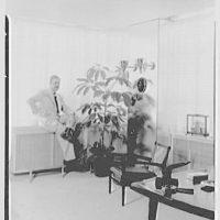 Raymond Loewy Associates, 488 Madison Ave., New York City. Mr. Loewy at window