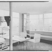 Raymond Loewy Associates, 488 Madison Ave., New York City. Mr. Snaith's office, to windows