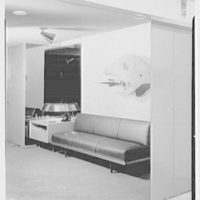 Raymond Loewy Associates, 488 Madison Ave., New York City. Reception, mirror detail