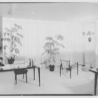 Raymond Loewy Associates, 488 Madison Ave., New York City. View from door towards window