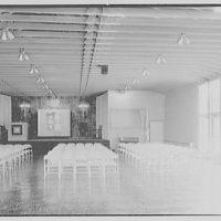Roslyn Jewish Community Center, Roslyn Rd., Roslyn, Long Island, New York. Interior, general, horizontal