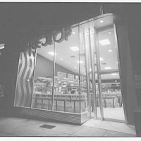Waffle Shop on 10th Street. Exterior of Waffle Shop from side angle, night