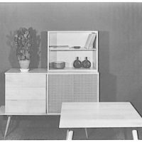 Berge-Norman Associates, business at 45 E. 28th St., New York City. Squear table