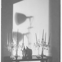 Bertram Wolfe, residence at 138 E. 62nd St., New York City. Detail of table and shadows