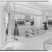 Bonwit Teller, business in Cleveland, Ohio. Sports floor, knit sweaters
